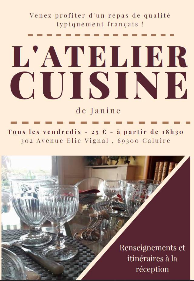 L 39 atelier cuisine de janine lyon bleu international for L atelier cuisine