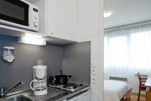 Cuisine résidence Lyon Bleu